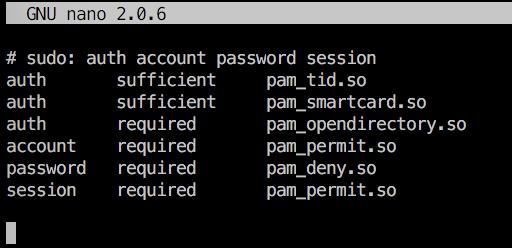 содержимое файла /etc/pam.d/sudo